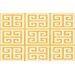 <strong>Greek Key II Yellow  Rug</strong> by Thumbprintz