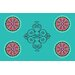 <strong>Boho Medallion Square Turquoise Rug</strong> by Thumbprintz