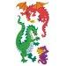 <strong>Bulk Roll Prismatic Dragon Sticker</strong> by Jillson & Roberts