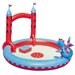 <strong>Splash and Play</strong> Round Interactive Castle Inflatable Play Pool