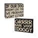"""<strong>Blossom Bucket</strong> 2 Piece Decorative """"Our Dog/Grrr"""" Wall Box Sign Set"""