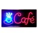 "10"" x 19"" Animated Motion LED Neon Light Cafe Sign"