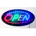 "<strong>DSD Group</strong> 10"" x 19"" Animated Motion LED Oval Open Sign"