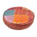 <strong>Patchwork Sari Brocade Round Pillow</strong> by Found Object