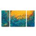 <strong>Dream Watchers Textured Triptych 3 Piece Painting Print on Canvas Set</strong> by Artefx Decor