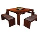 Square Dining Table in Dark Walnut Global Group