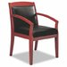 <strong>Leather Back Mercado Series Wood Office Chair</strong> by Mayline Group