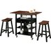 4D Concepts Phoenix 3 Piece Kitchen Island Set