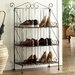 "<strong>Farmington 3 Tier Folding Maize Weave 37"" Bookcase</strong> by 4D Concepts"