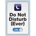 NMR Distribution Do Not Disturb Tin Sign Textual Art