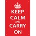 <strong>Keep Calm Tin Sign Textual Art</strong> by NMR Distribution