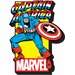 <strong>Marvel - Captain America with Logo Magnet</strong> by NMR Distribution
