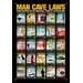 <strong>Man Cave Laws Tin Sign Vintage Advertisement</strong> by NMR Distribution