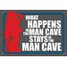 <strong>NMR Distribution</strong> Man Cave What Happens Tin Sign Graphic Art