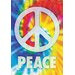 Peace Words Tin Sign Graphic Art
