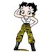 Betty Boop - Army Fatigues Life-Size Cardboard Stand-Up