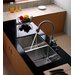 "Undermount 33"" Double Bowl 50/50 Kitchen Sink with Kitchen Faucet and Soap Dispenser"
