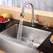 "Farmhouse 33"" Kitchen Sink with Faucet and Soap Dispenser"