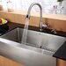 "Farmhouse 36"" Single Bowl Kitchen Sink with Faucet and Soap Dispenser"