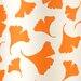Orange Ginko Leaf