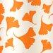Orange Ginko Leaf