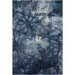 Chandra Rugs Ornate Blue Area Rug