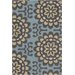 <strong>Chandra Rugs</strong> Amy Butler Blue Wallflower Rug