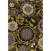 Chandra Rugs Amy Butler Lacework Brown/Green Area Rug