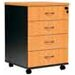 Cooper Furniture Logan 4 Drawer Mobile Pedestal