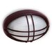 Modern Small Oval Caged Exterior Bunker Light in Australian Powder Coat Hermosa