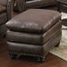 <strong>Oasis Home and Decor</strong> Arlington Leather Ottoman