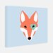 "<strong>Little Crown Interiors</strong> ""Nika"" Modern Fox Nursery Canvas Art"