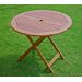 <strong>Highland Acacia Folding Patio Dining Table</strong> by International Caravan