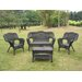 <strong>Chelsea Wicker Resin Steel Deep Seated Patio Chair (Set of 2)</strong> by International Caravan
