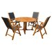 Royal Tahiti Santiago 5 Piece Dining Set