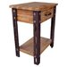 International Caravan Rustic Forge End Table