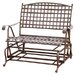 International Caravan Santa Fe Wrought Iron Double Patio Glider
