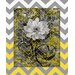 <strong>Obvious Place</strong> Flower Gray and Yellow Chevron Graphic Art on Canvas
