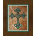 <strong>Rustic Cowhide Cross Graphic Art on Canvas in Multi</strong> by Obvious Place
