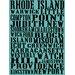 <strong>Rhode Island Towns of Rhode Island Textual Art on Canvas</strong> by Graffitee Studios