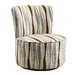 <strong>Alfosa Vertical Wavy Stripe Print Swivel Accent Chair</strong> by Kingstown Home