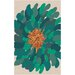 Muse by HTL Emerald Rosa Green Area Rug