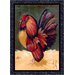 Fall Seasonal Provincial Rooster Novelty Rug
