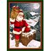 Winter Seasonal Up on the Housetop Christmas Novelty Rug