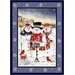Winter Seasonal Holiday Merry Minstrels Snowman Novelty Rug