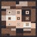 Pastiche Bloques Brown Leather Rug