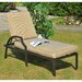 <strong>Prescott Chaise Lounge with Cushion</strong> by Sunjoy