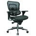 <strong>Ergohuman Mid-Back Mesh Chair with Arms</strong> by Eurotech Seating