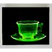 <strong>X-ray Designs Uranium Glass Teacup Graphic Art Plaque</strong> by Radiant Art Studios