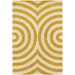 <strong>Tufted Pile Yellow Geometric Rug</strong> by Thomas Paul